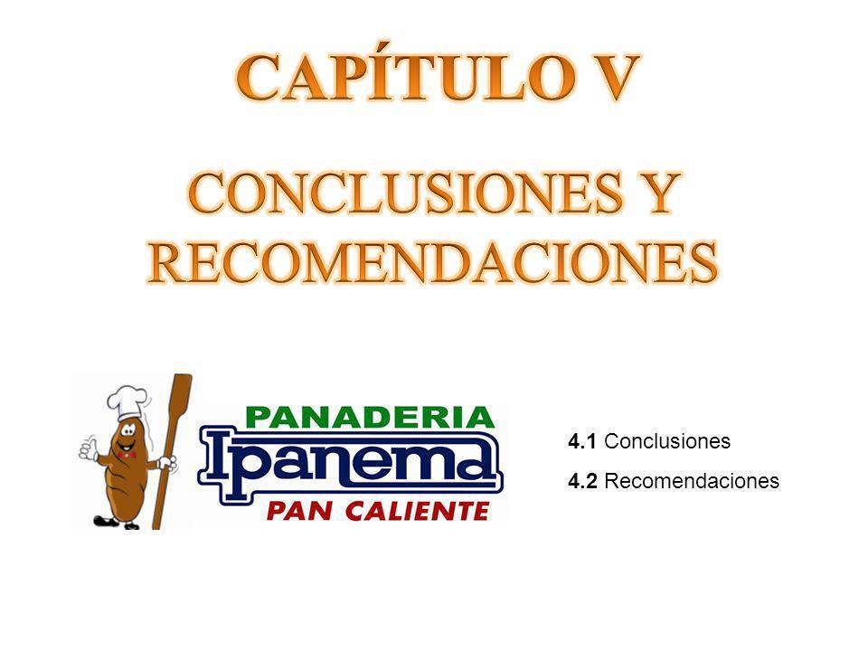 4.1 Conclusiones 4.2 Recomendaciones