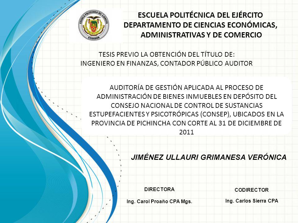 ESCUELA POLITÉCNICA DEL EJÉRCITO DEPARTAMENTO DE CIENCIAS ECONÓMICAS, ADMINISTRATIVAS Y DE COMERCIO TESIS PREVIO LA OBTENCIÓN DEL TÍTULO DE: INGENIERO