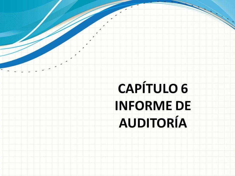 CAPÍTULO 6 INFORME DE AUDITORÍA
