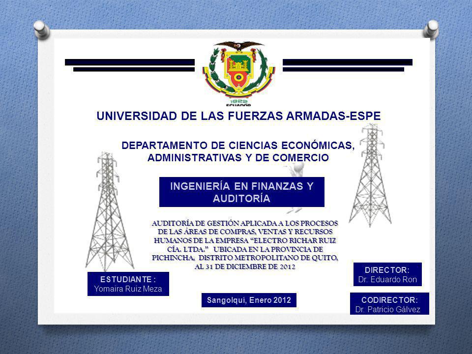 1.1.2 OBJETIVO GENERAL DEL ENTE AUDITADO ELECTRO RICHAR RUIZ CÍA.
