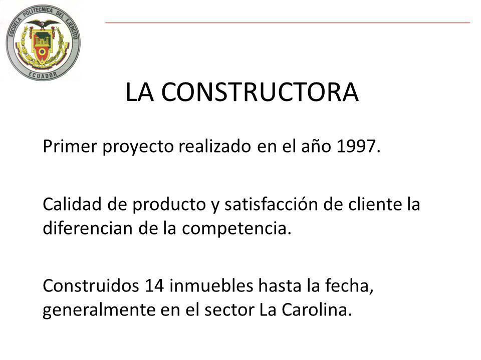 LA CONSTRUCTORA Primer proyecto realizado en el año 1997.