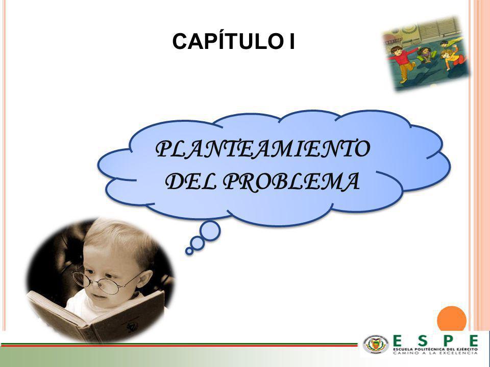 PLANTEAMIENTO DEL PROBLEMA CAPÍTULO I