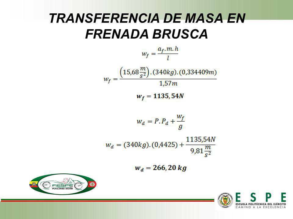 TRANSFERENCIA DE MASA EN FRENADA BRUSCA
