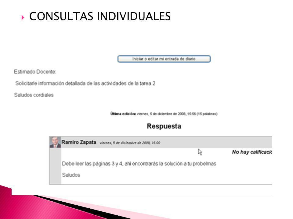 CONSULTAS INDIVIDUALES
