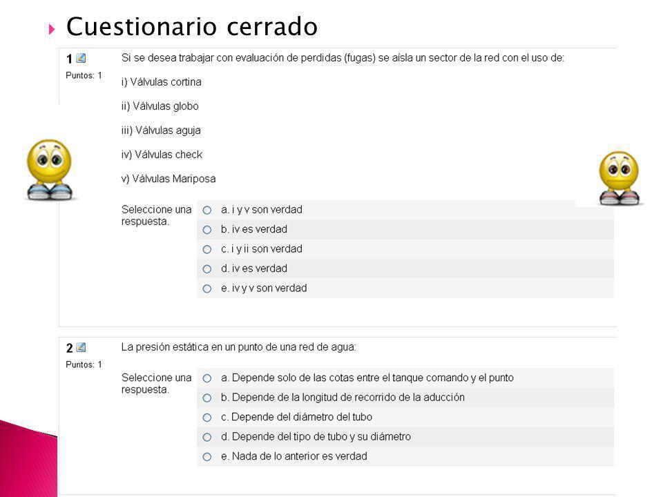 Cuestionario cerrado