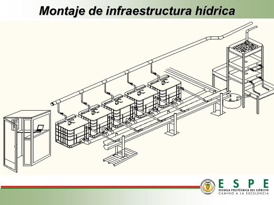 Montaje de infraestructura hídrica.