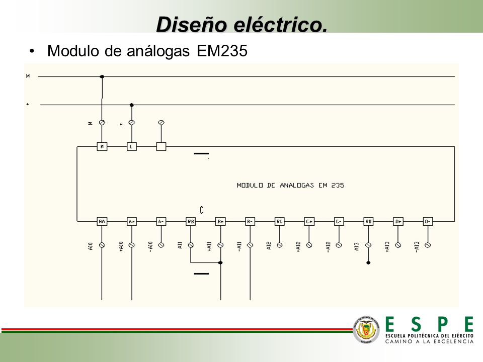 Diseño eléctrico. Modulo de análogas EM235
