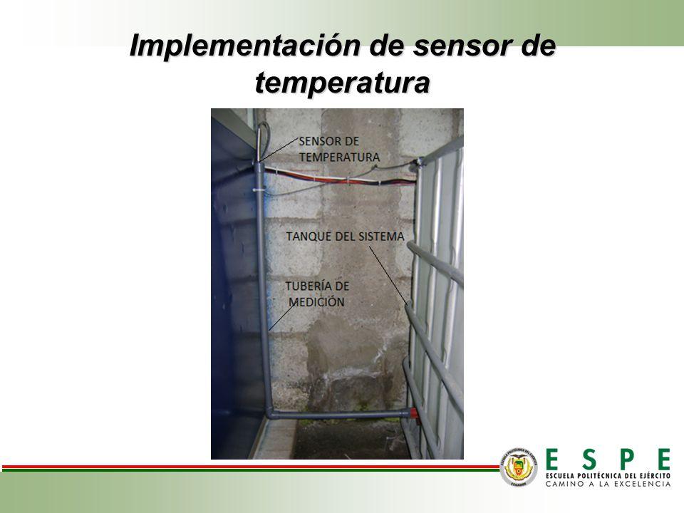 Implementación de sensor de temperatura Corte en Porciones.