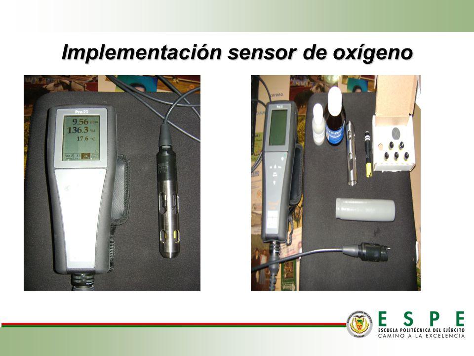 Implementación sensor de oxígeno Amasado.