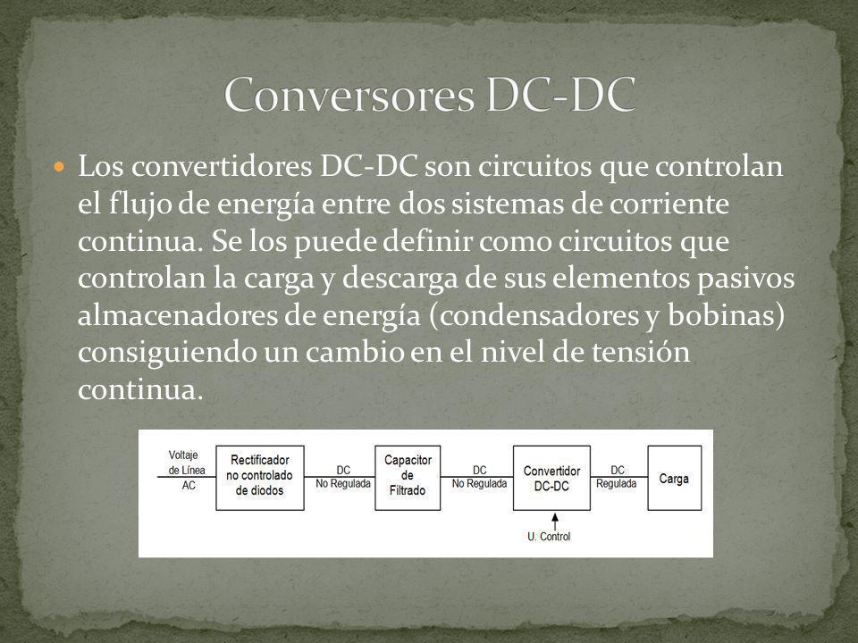 Los convertidores DC-DC son circuitos que controlan el flujo de energía entre dos sistemas de corriente continua. Se los puede definir como circuitos