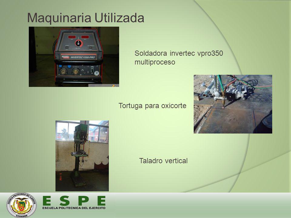 Soldadora invertec vpro350 multiproceso Tortuga para oxicorte Taladro vertical Maquinaria Utilizada