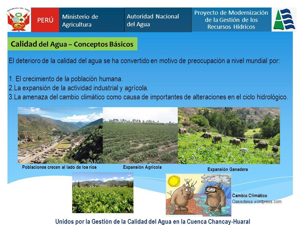 Unidos por la Gestión de la Calidad del Agua en la Cuenca Chancay-Huaral El deterioro de la calidad del agua se ha convertido en motivo de preocupació
