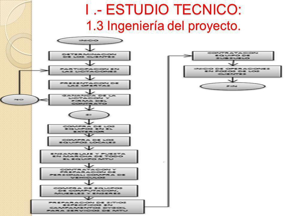 I.- ESTUDIO TECNICO: 1.3 Ingeniería del proyecto..