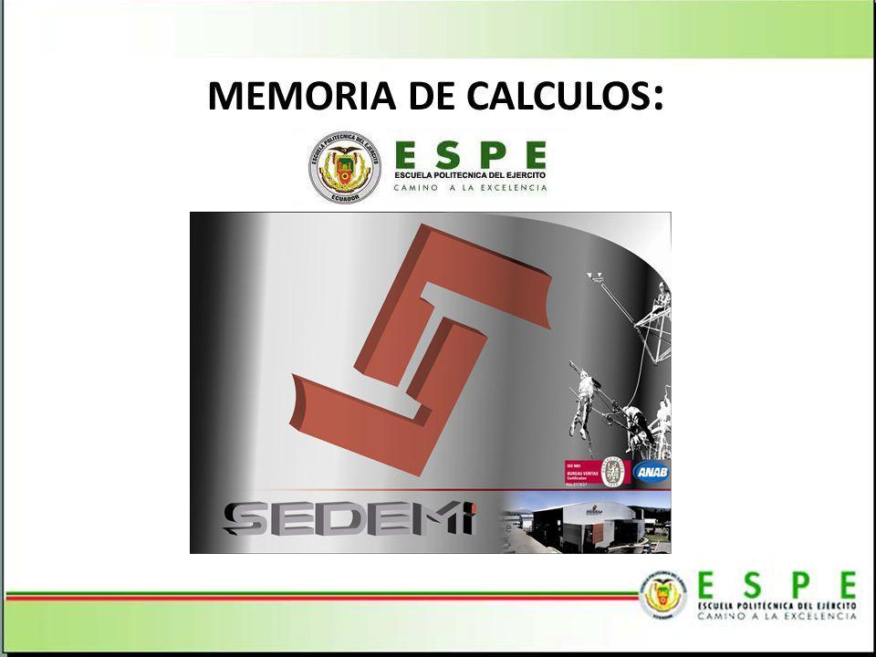 MEMORIA DE CALCULOS :