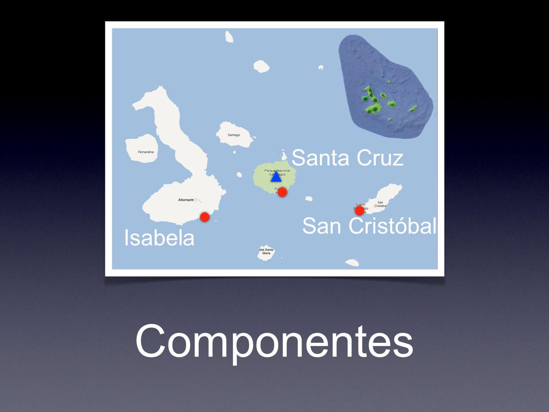 Componentes Santa Cruz San Cristóbal Isabela