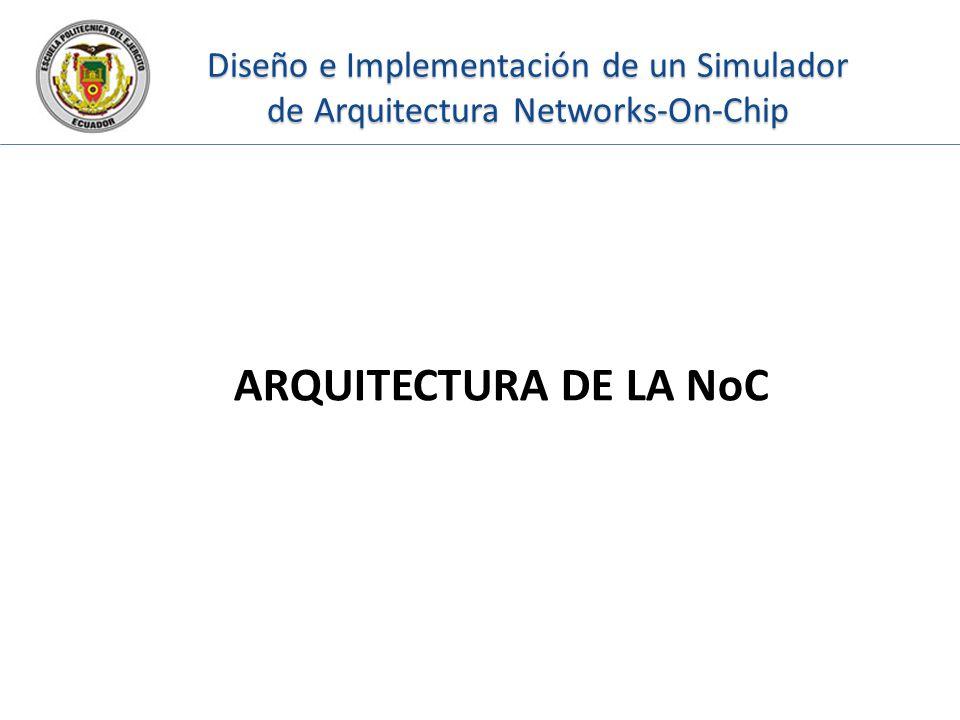 Diseño e Implementación de un Simulador de Arquitectura Networks-On-Chip ARQUITECTURA DE LA NoC
