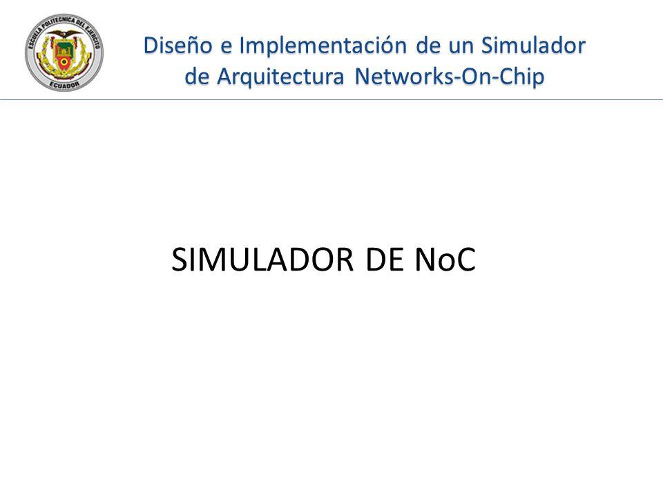 Diseño e Implementación de un Simulador de Arquitectura Networks-On-Chip SIMULADOR DE NoC