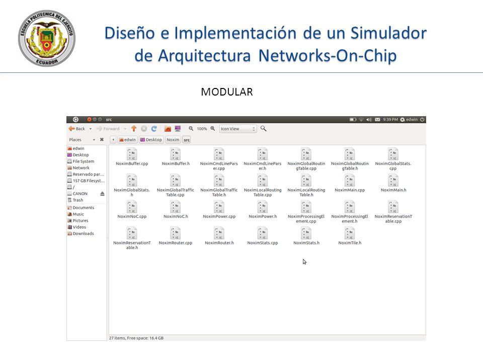 Diseño e Implementación de un Simulador de Arquitectura Networks-On-Chip MODULAR