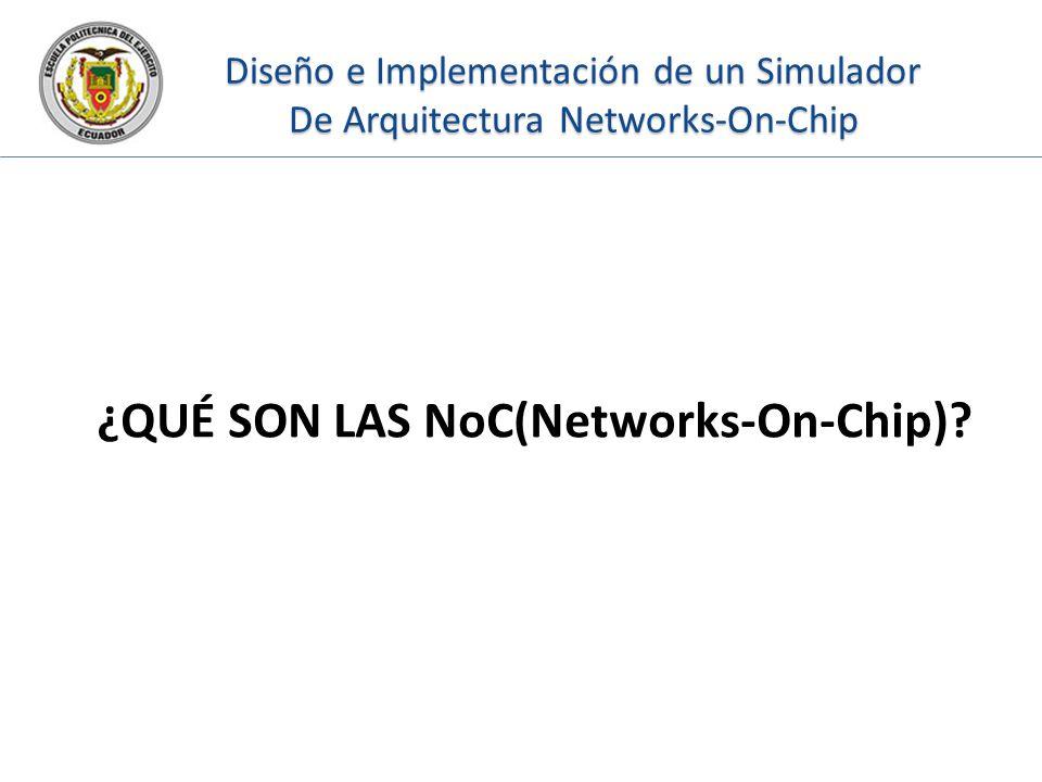 Diseño e Implementación de un Simulador De Arquitectura Networks-On-Chip ¿QUÉ SON LAS NoC(Networks-On-Chip)?