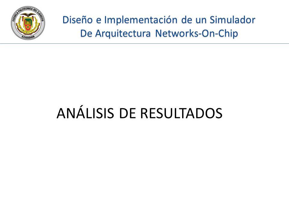 Diseño e Implementación de un Simulador De Arquitectura Networks-On-Chip ANÁLISIS DE RESULTADOS