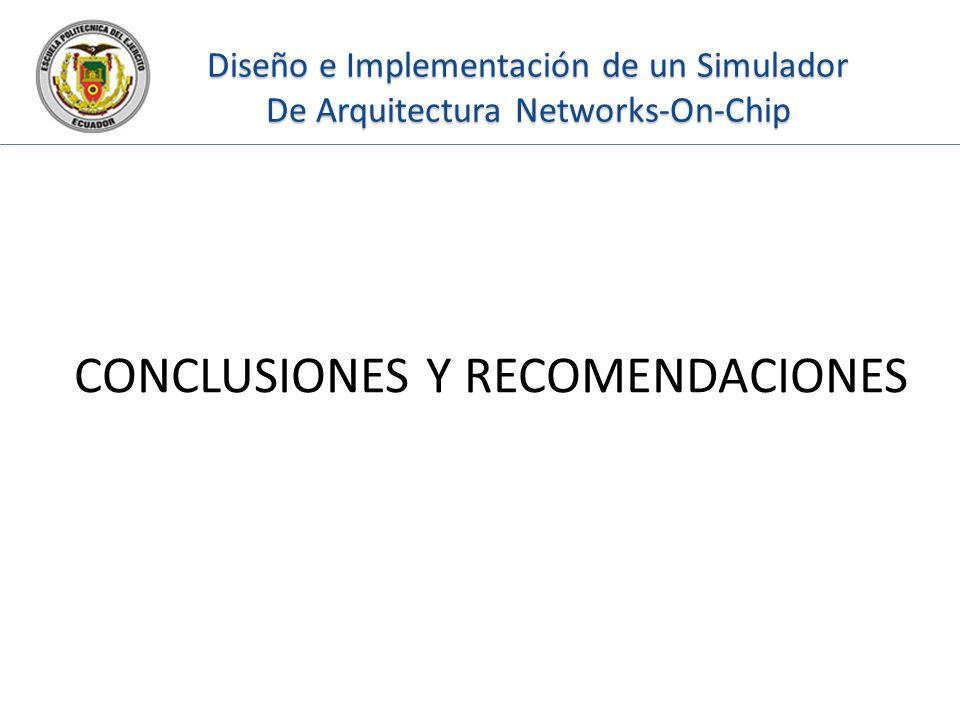 Diseño e Implementación de un Simulador De Arquitectura Networks-On-Chip CONCLUSIONES Y RECOMENDACIONES
