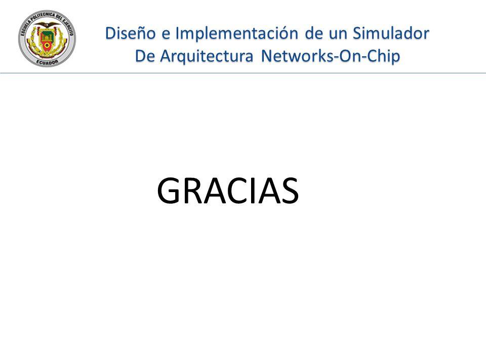 Diseño e Implementación de un Simulador De Arquitectura Networks-On-Chip GRACIAS
