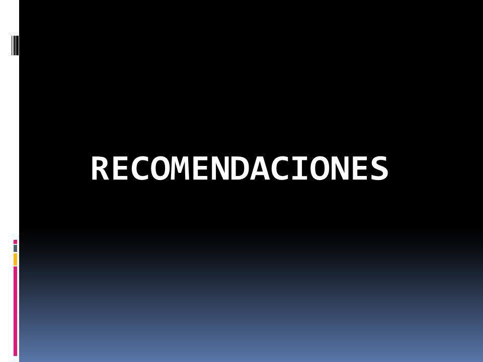 RECOMENDACIONESS