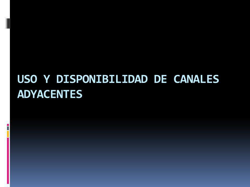 USO Y DISPONIBILIDAD DE CANALES ADYACENTES