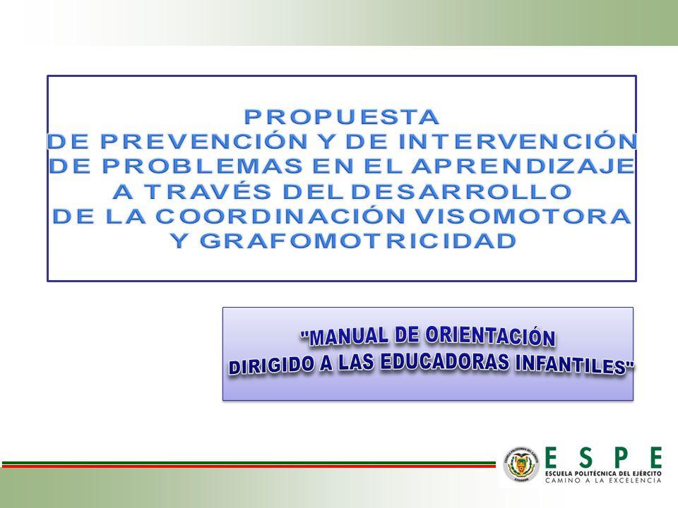 RECOMENDACIONES Prevenir los problemas de aprendizaje, a través de la ejecución de actividades de coordinación visomotora ya sea mediante lo lúdico o en actividades de escritorio.