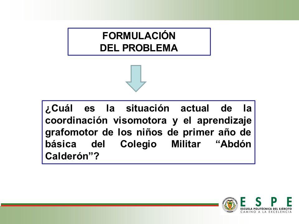 INADECUADO DESARROLLO DE LA COORDINACIÓN VISOMOTORA Y GRAFOMOTRICIDAD TRASTORNOS ESPECÍFICOS DEL APRENDIZAJE DIFICULTADES PARA APRENDER A LEER, ESCRIBIR Y HACER CÁLCULOS MATEMÁTICOS PRIMER AÑO DE BÁSICA ENCARGADO DEL DESARROLLO DE LAS FUNCIONES BÁSICAS