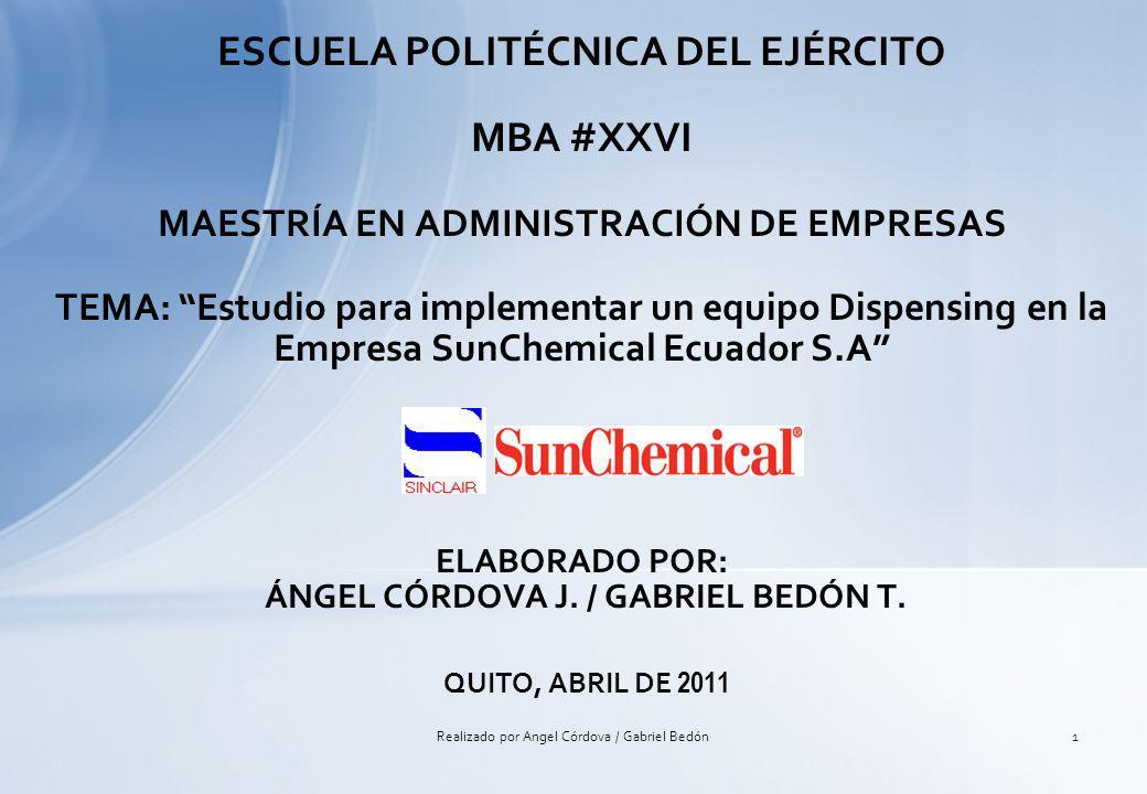 -LA EMPRESA SUNCHEMICAL ECUADOR S.A.LA EMPRESA SUNCHEMICAL ECUADOR S.A.