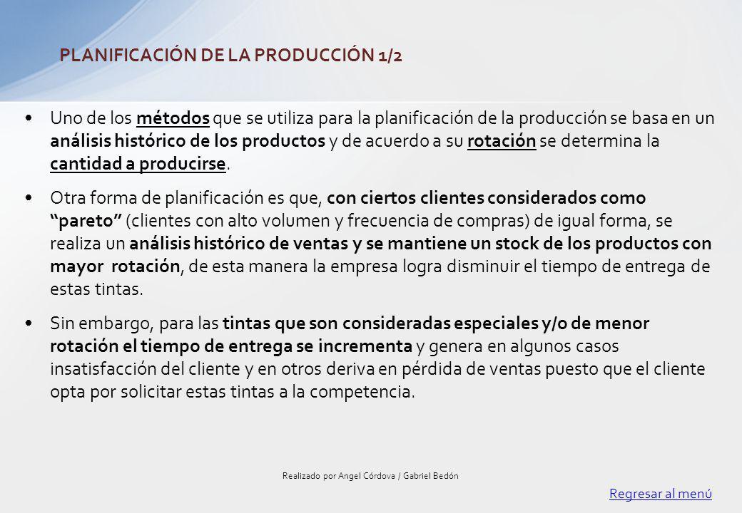 Uno de los métodos que se utiliza para la planificación de la producción se basa en un análisis histórico de los productos y de acuerdo a su rotación