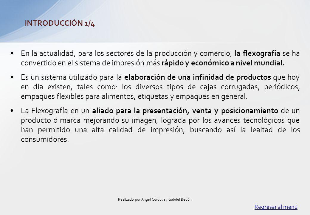 El mercado flexográfico en Ecuador como en el mundo se ha convertido en una de las mejores opciones para la elaboración de empaques, ya que este proceso de impresión le agrega calidad e imagen al producto, lo cual le permite al consumidor tener una mejor visualización y percepción del contenido del producto.