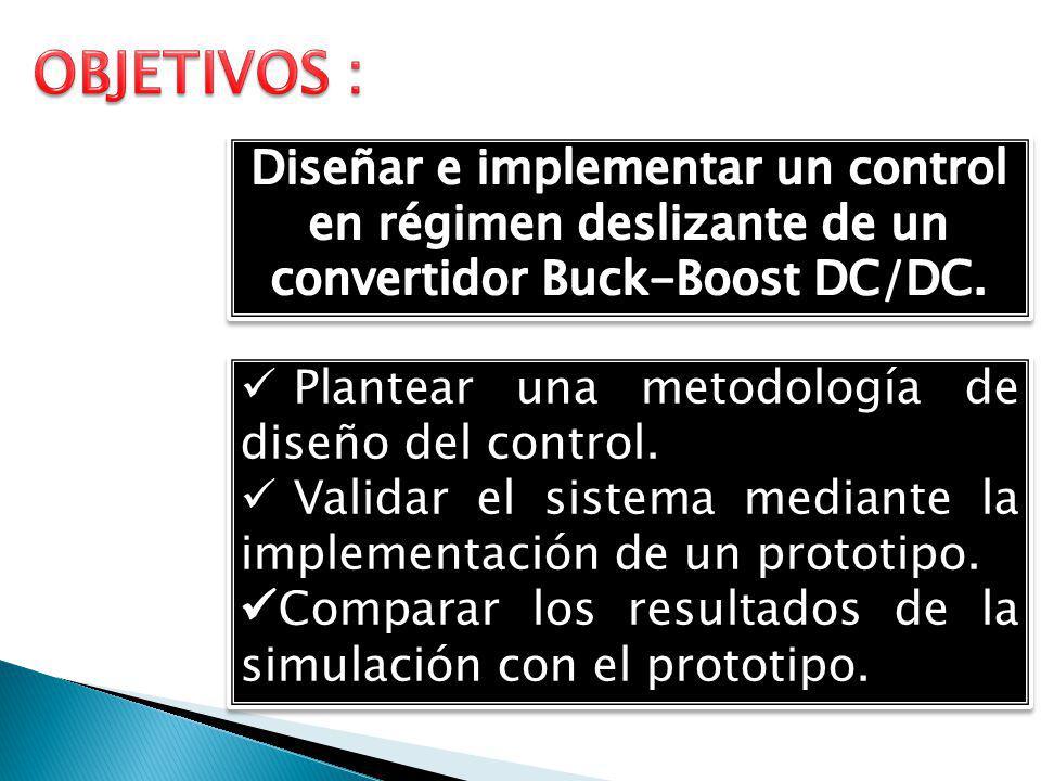 ESTADO DEL ARTE EL CONVERTIDOR BUCK-BOOST DC/DC CONTROL POR MODO DESLIZANTE
