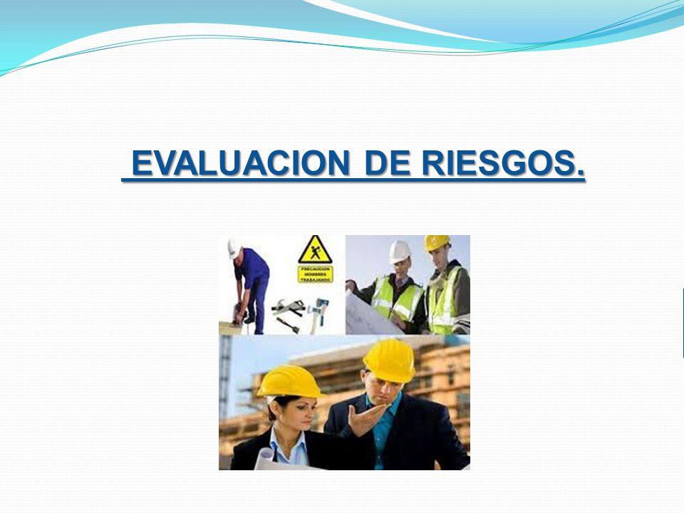 EVALUACION DE RIESGOS. EVALUACION DE RIESGOS.