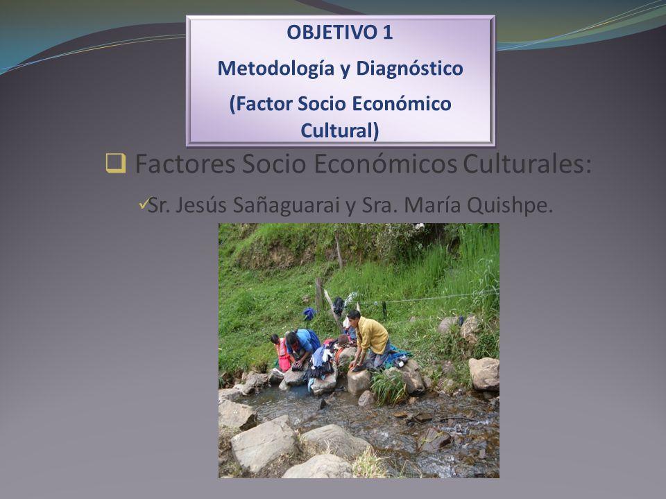 OBJETIVO 1 Metodología y Diagnóstico (Factor Socio Económico Cultural) OBJETIVO 1 Metodología y Diagnóstico (Factor Socio Económico Cultural) Factores