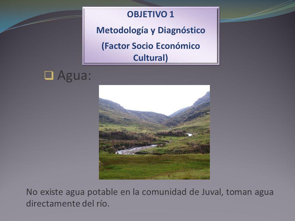 Agua: OBJETIVO 1 Metodología y Diagnóstico (Factor Socio Económico Cultural) OBJETIVO 1 Metodología y Diagnóstico (Factor Socio Económico Cultural) No