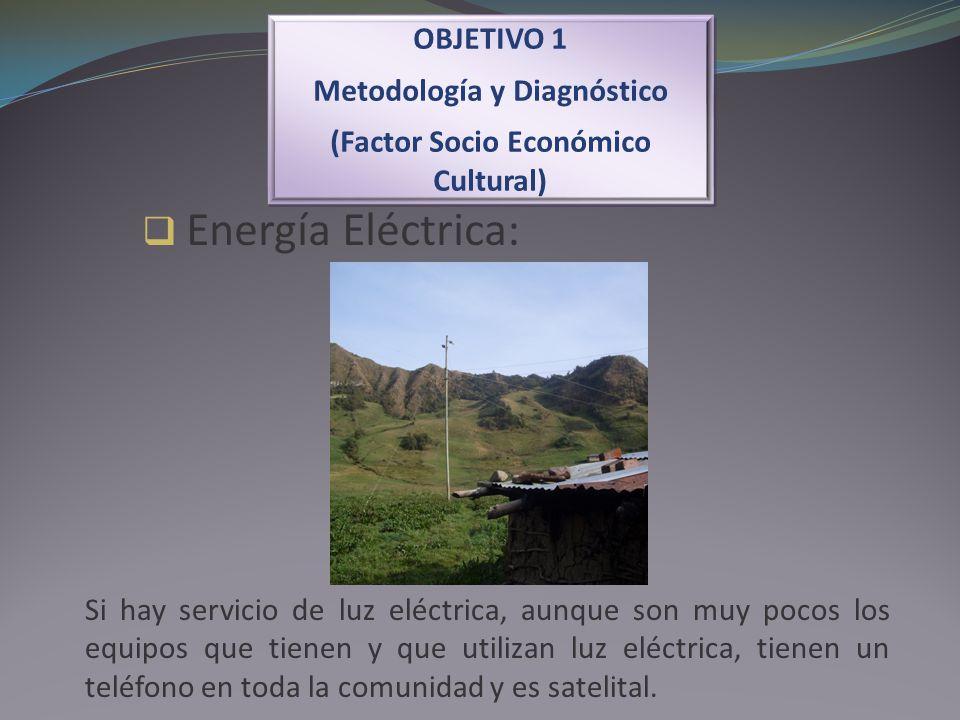 Energía Eléctrica: OBJETIVO 1 Metodología y Diagnóstico (Factor Socio Económico Cultural) OBJETIVO 1 Metodología y Diagnóstico (Factor Socio Económico