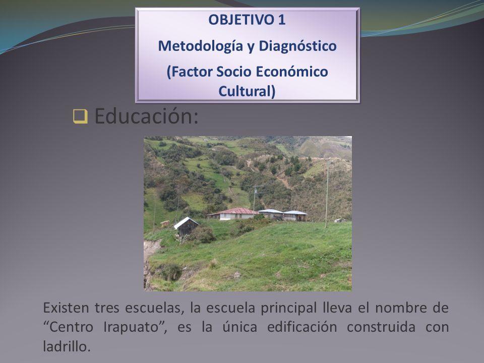 Educación: OBJETIVO 1 Metodología y Diagnóstico (Factor Socio Económico Cultural) OBJETIVO 1 Metodología y Diagnóstico (Factor Socio Económico Cultura
