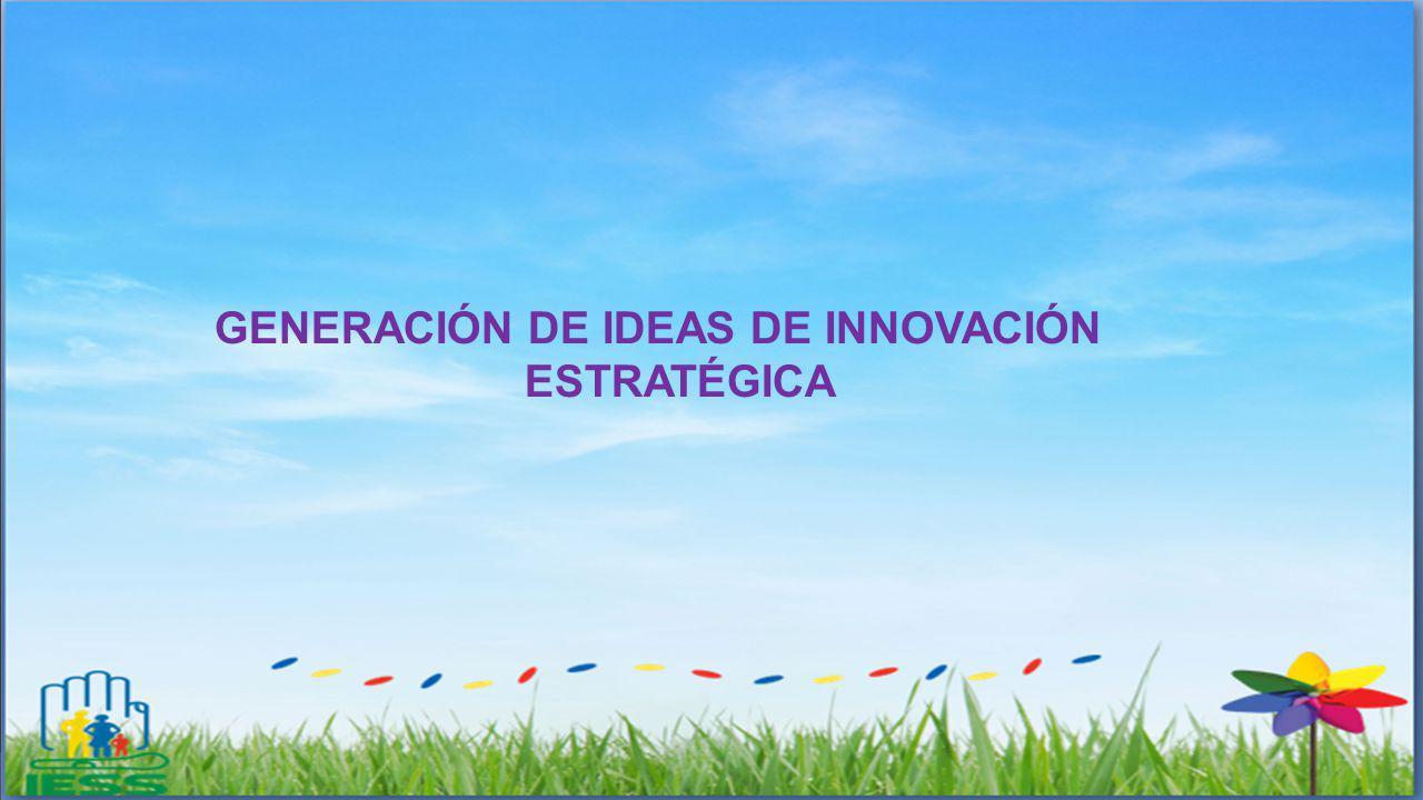 GENERACIÓN DE IDEAS DE INNOVACIÓN ESTRATÉGICA