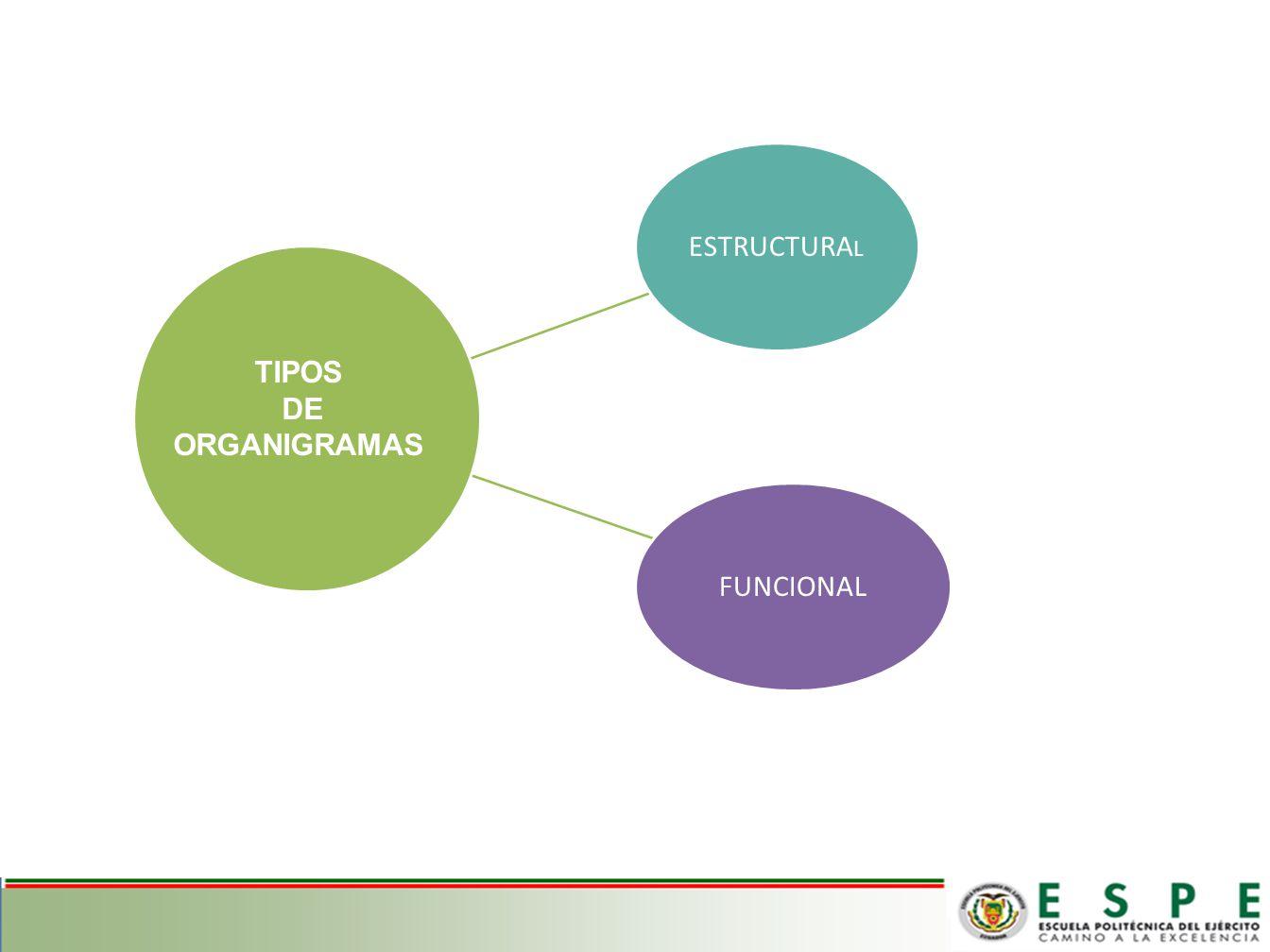 ESTRUCTURA L FUNCIONAL TIPOS DE ORGANIGRAMAS