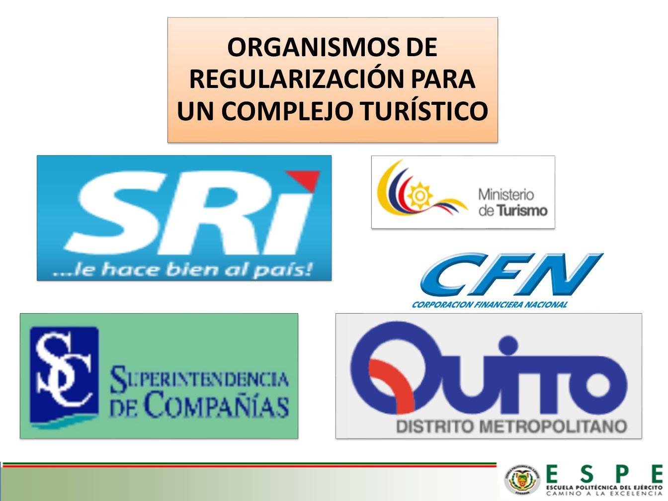 ORGANISMOS DE REGULARIZACIÓN PARA UN COMPLEJO TURÍSTICO
