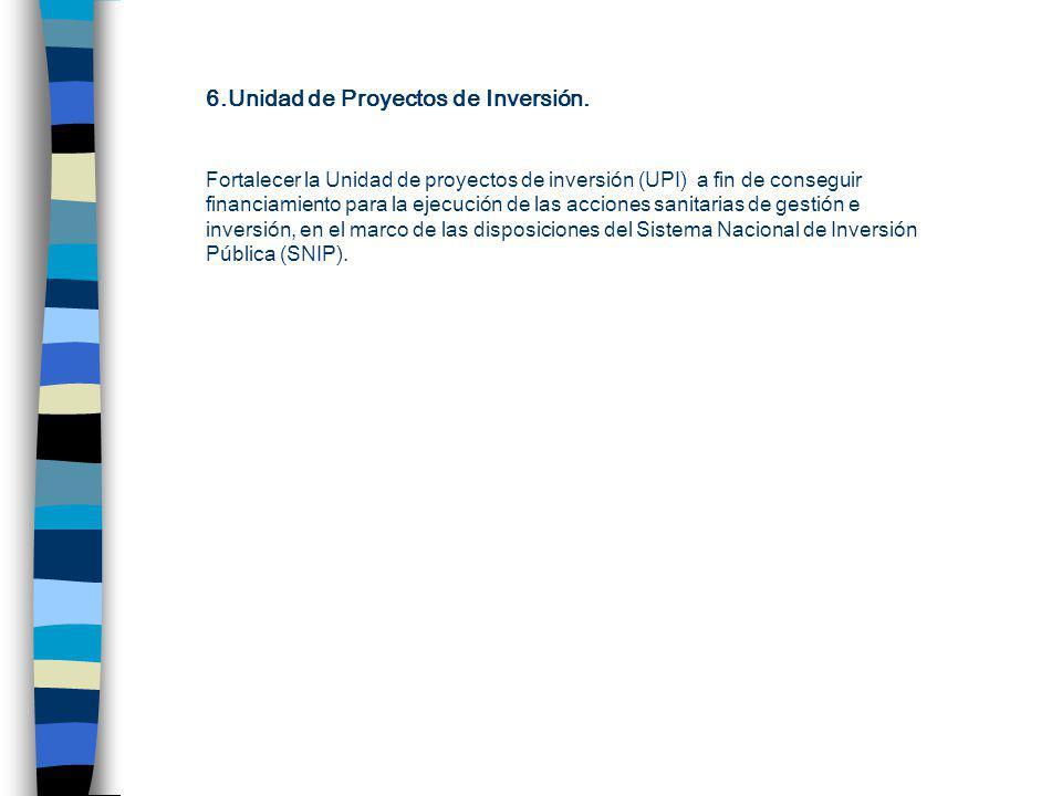 6.Unidad de Proyectos de Inversión.