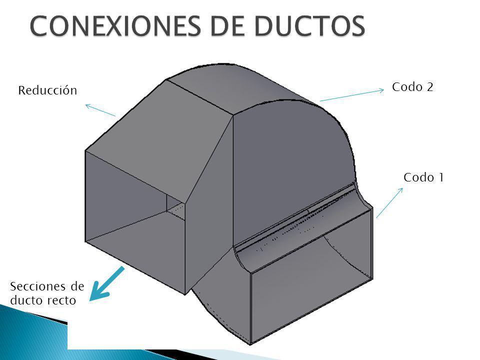 Reducción Codo 2 Codo 1 Secciones de ducto recto