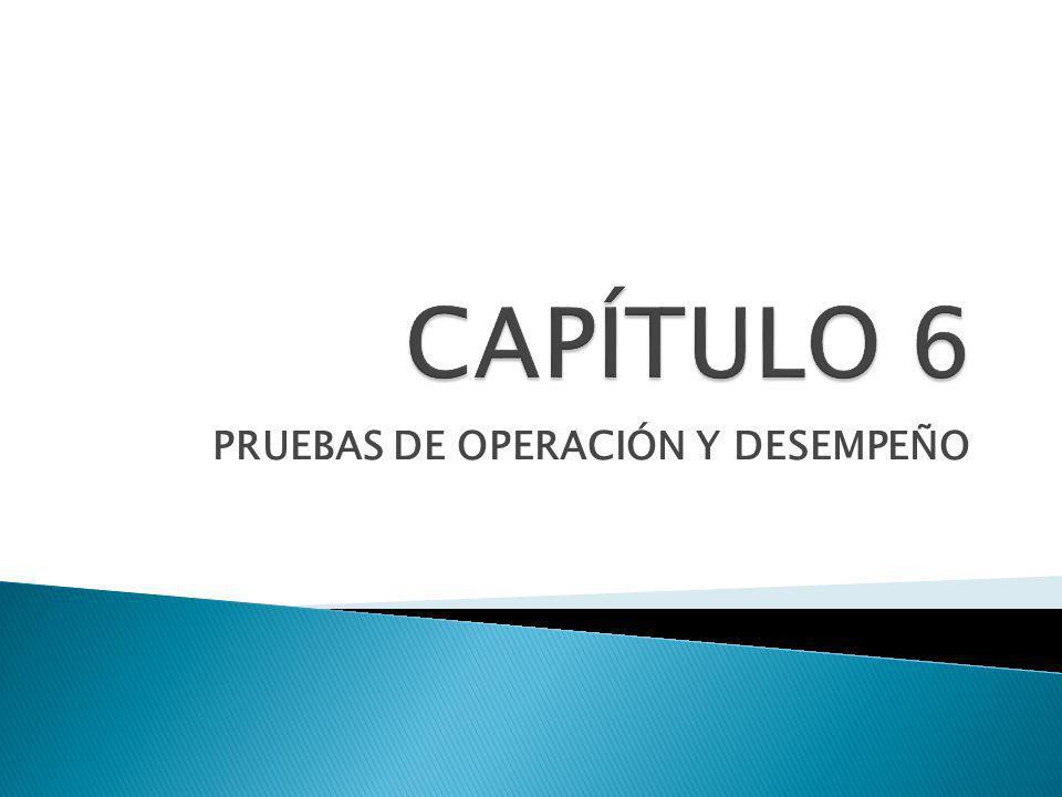 PRUEBAS DE OPERACIÓN Y DESEMPEÑO