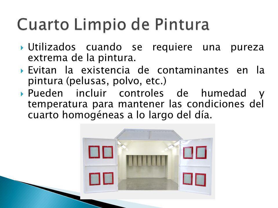 Utilizados cuando se requiere una pureza extrema de la pintura. Evitan la existencia de contaminantes en la pintura (pelusas, polvo, etc.) Pueden incl
