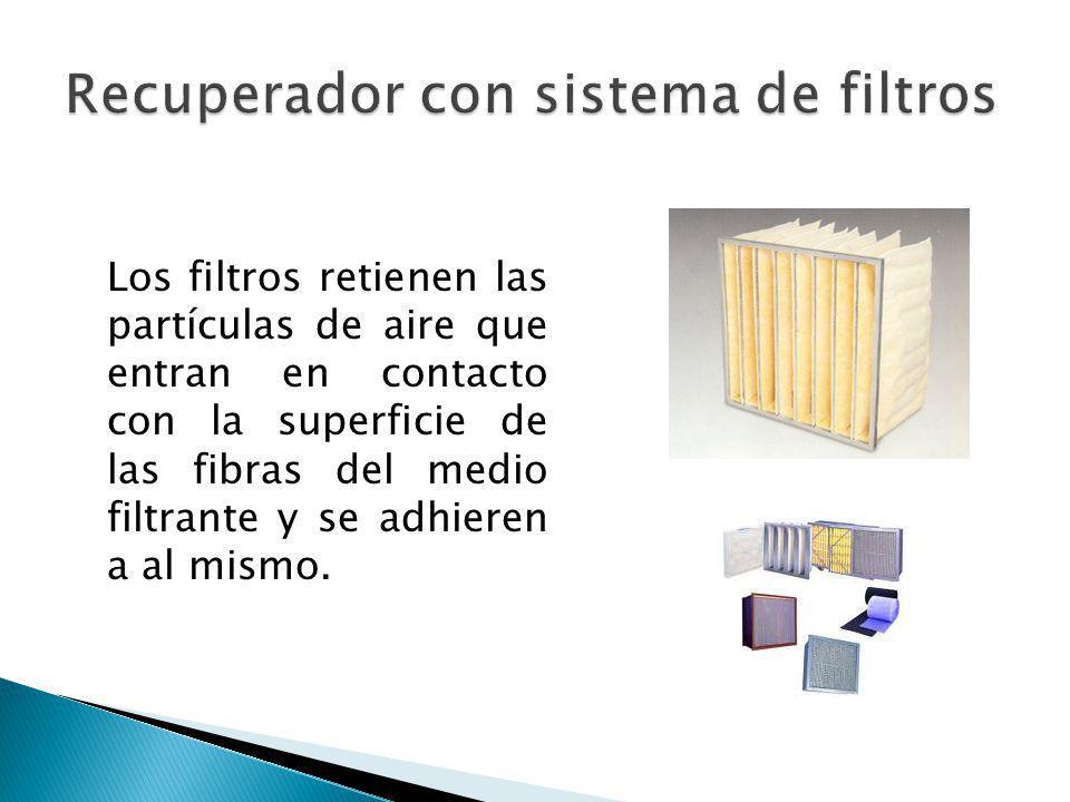 Los filtros retienen las partículas de aire que entran en contacto con la superficie de las fibras del medio filtrante y se adhieren a al mismo.