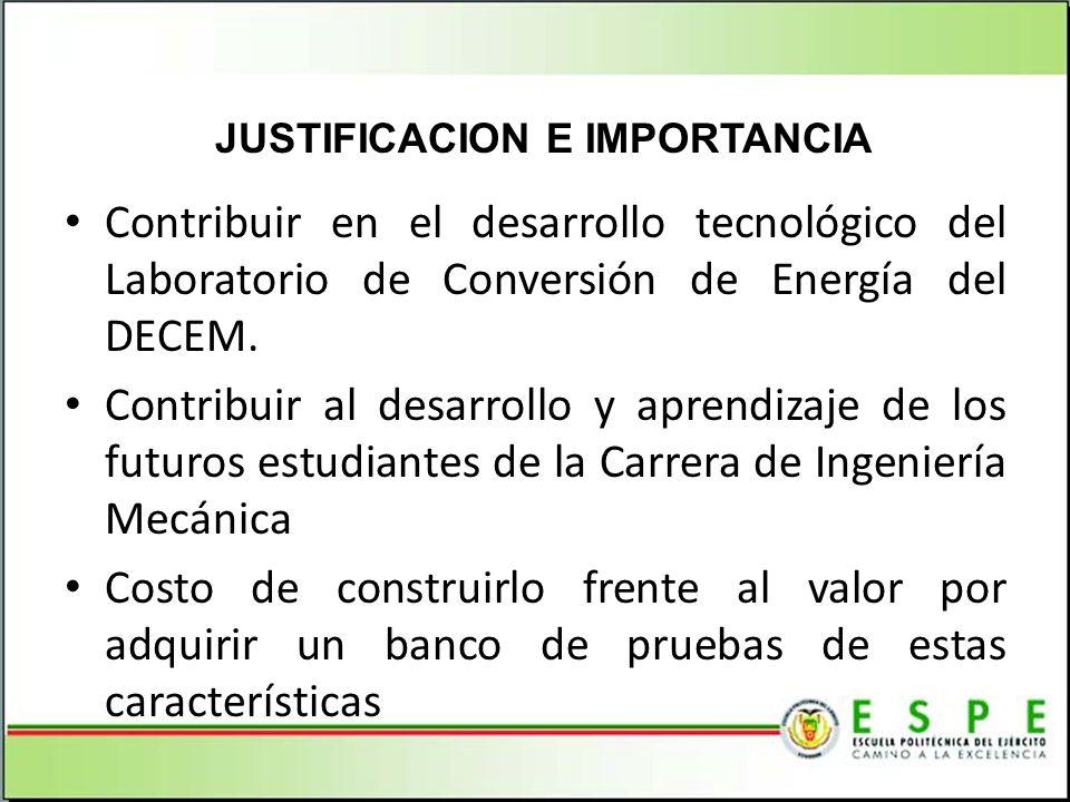 Contribuir en el desarrollo tecnológico del Laboratorio de Conversión de Energía del DECEM. Contribuir al desarrollo y aprendizaje de los futuros estu
