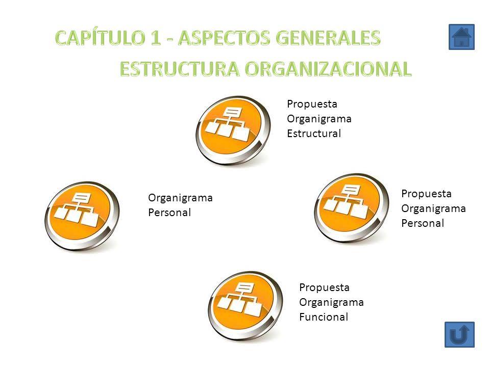 Propuesta Organigrama Estructural Propuesta Organigrama Personal Organigrama Personal Propuesta Organigrama Funcional