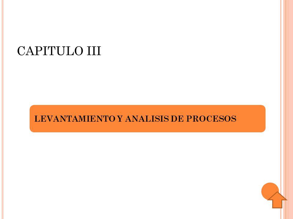 CAPITULO III LEVANTAMIENTO Y ANALISIS DE PROCESOS